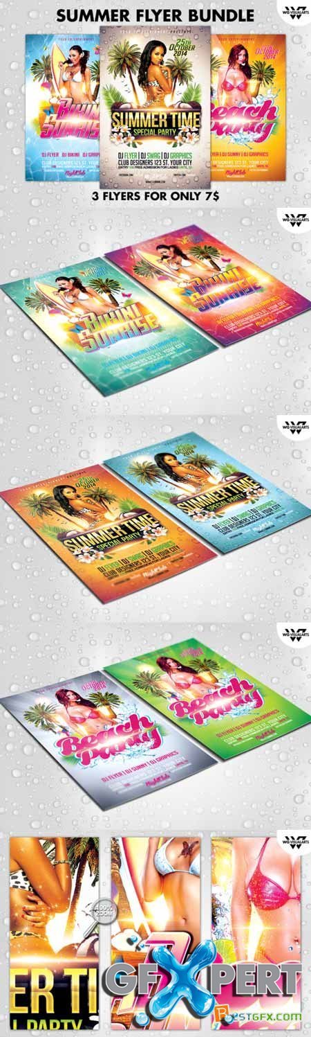 Creativemarket SUMMER Flyer Bundle 253036
