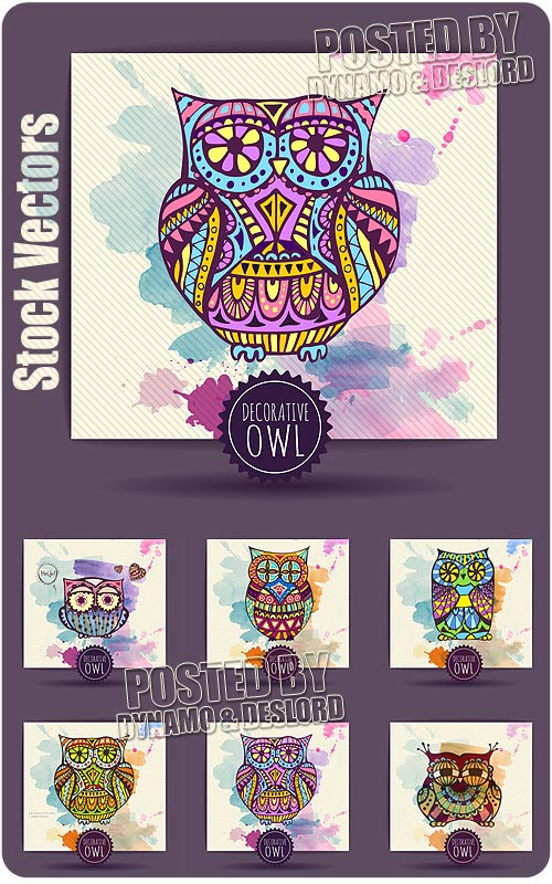 Decorative owl - Stock Vectors
