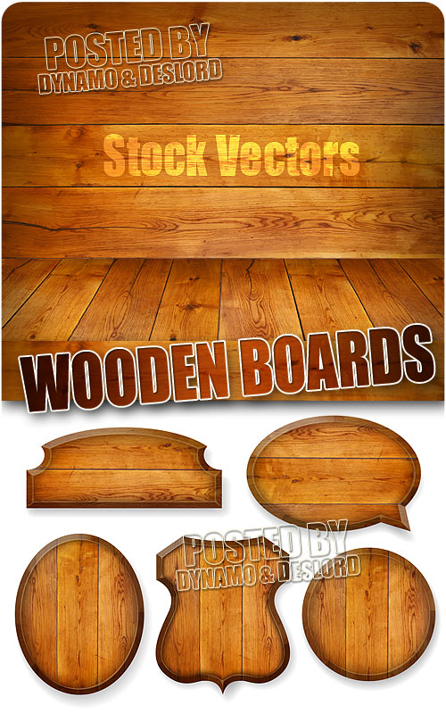 Wooden boards - Stock Vectors