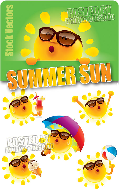 Summer Sun - Stock Vectors