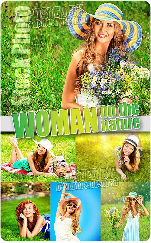 Woman on the nature - UHQ Stock Photo