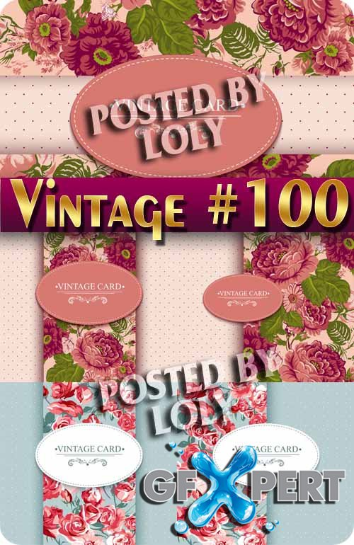 Vintage backgrounds #100 - Stock Vector