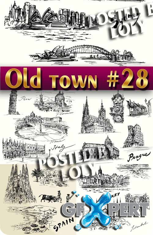 Old Town #28 - Stock Vector