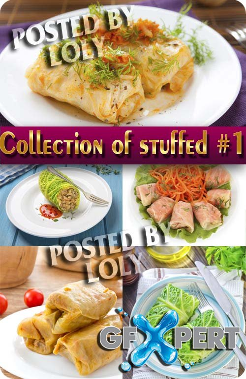 Food. Mega Collection. Stuffed cabbage #1 - Stock Photo