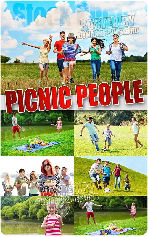 Picnic people 2 - UHQ Stock Photo