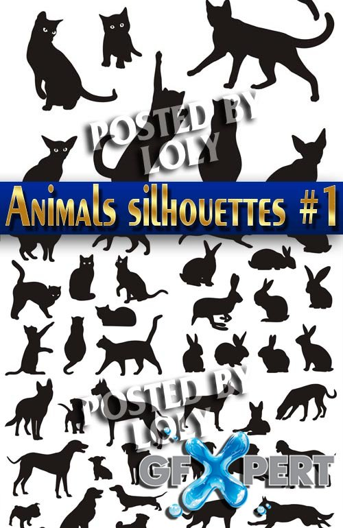 Animals silhouettes #1 - Stock Vector