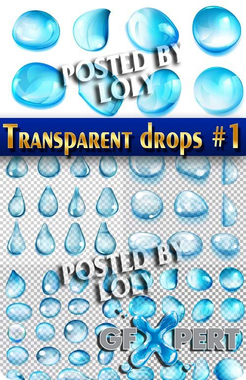 Transparent drops #1 - Stock Vector