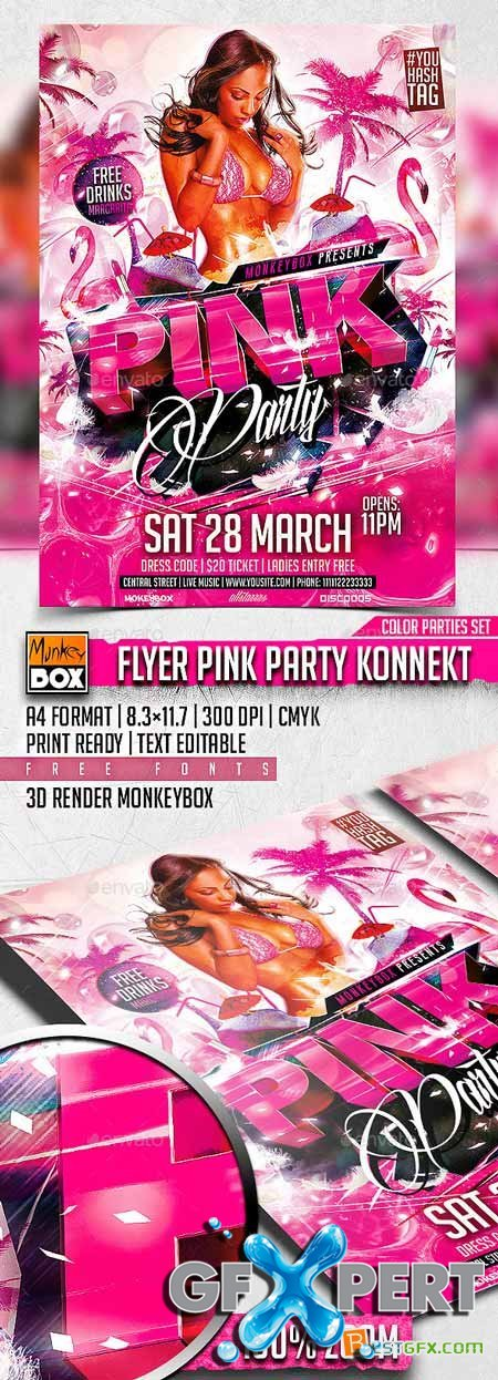 Graphicriver Flyer Pink Party Konnekt 10848304