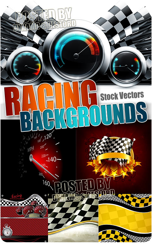 Racing backgrounds 2 - Stock Vectors