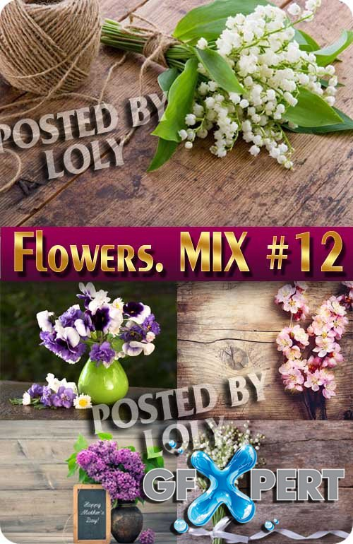 Flowers Mix #12 - Stock Photo