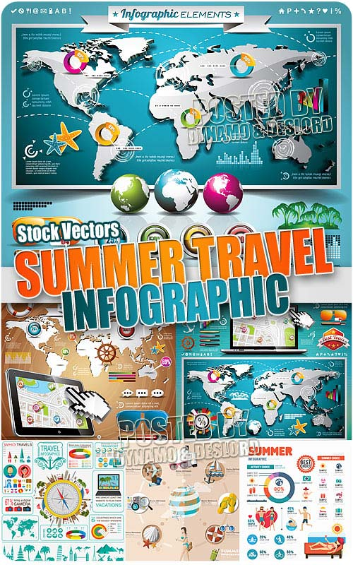 Summer travel infographic - Stock Vectors