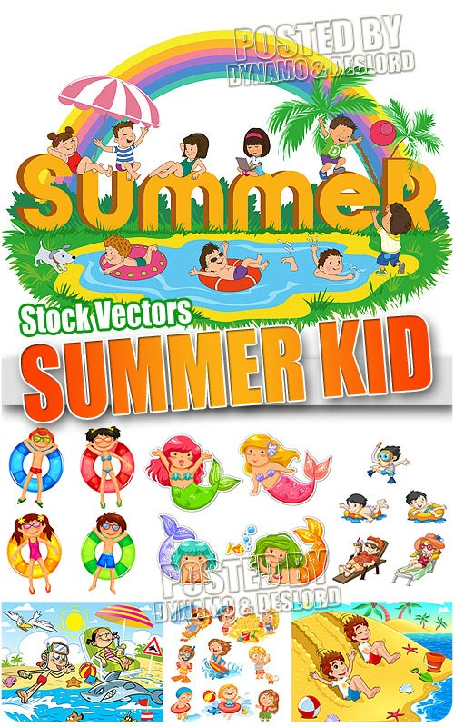 Summer Kids - Stock Vectors