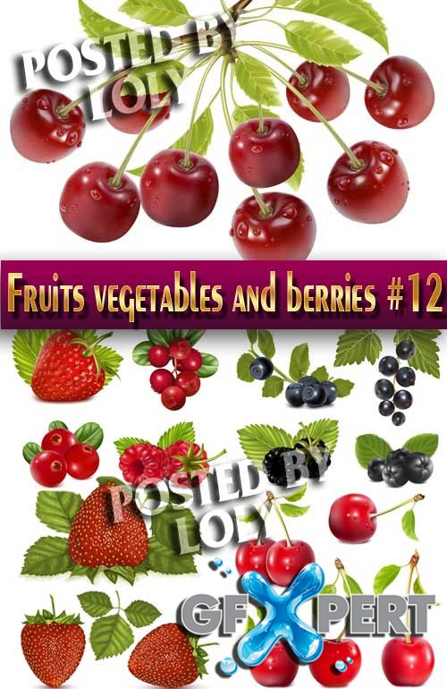 Fruits, vegetables and berries #12 - Stock Vector