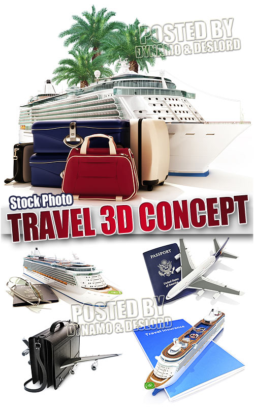 Travel 3D concept - UHQ Stock Photo