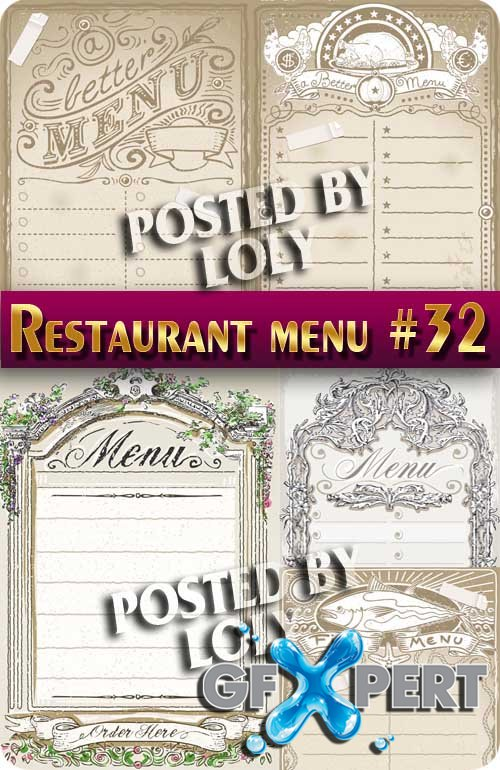 Restaurant menus #32 - Stock Vector