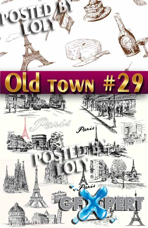 Old Town #29 - Stock Vector