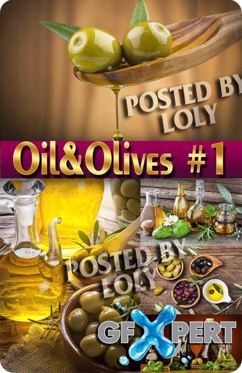 Oil and Olives #1 - Stock Photo