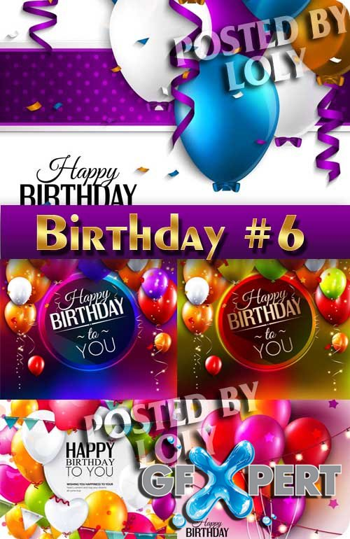 Happy Birthday! #6 - Stock Vector
