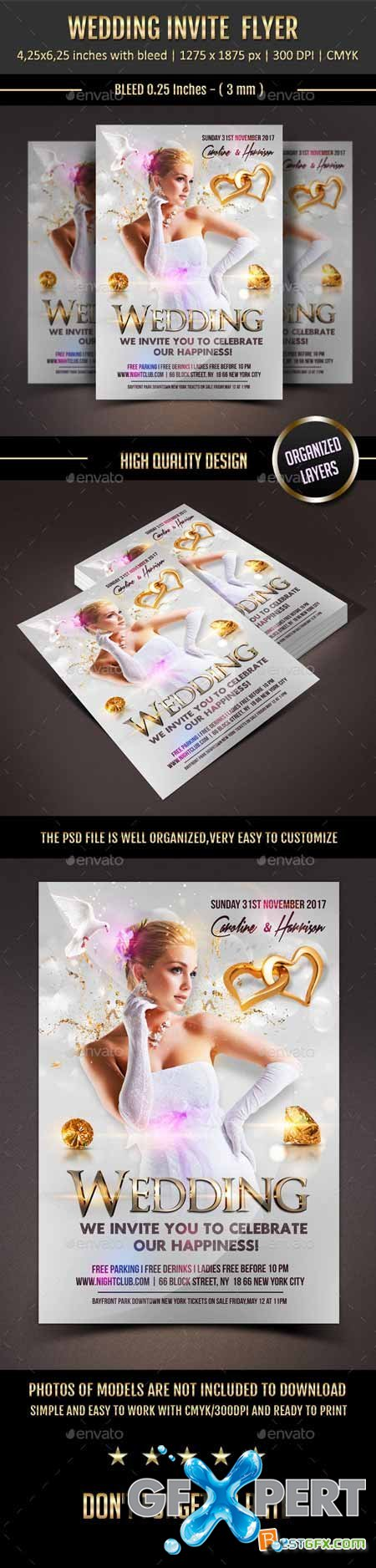 Graphicriver Wedding Event Flyer 11373683