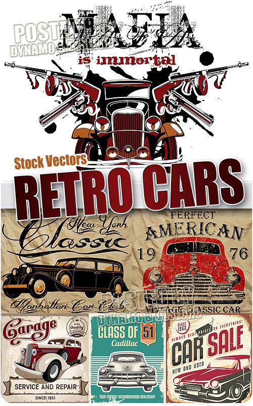 Retro cars - Stock Vectors