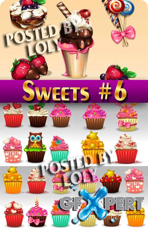 Sweets #6 - Stock Vector