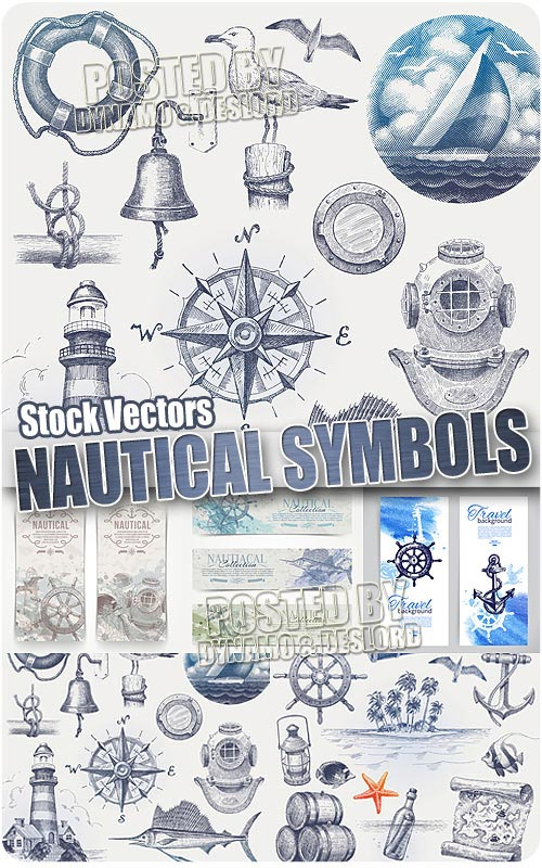 Nautical symbols - Stock Vectors