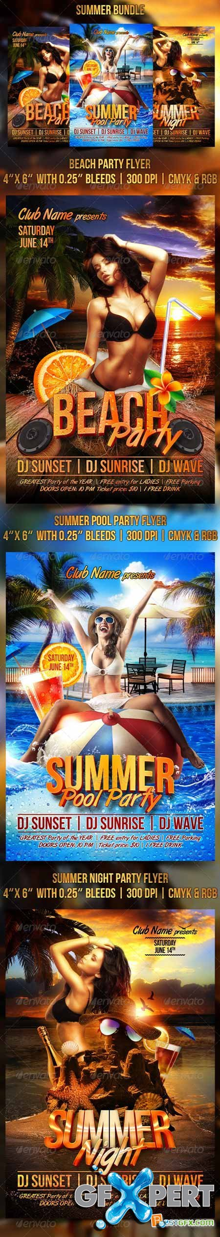 Graphicriver Summer Flyer Bundle 8203066