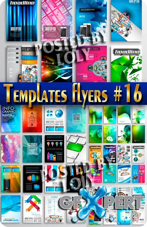 Flyer templates #16 - Stock Vector