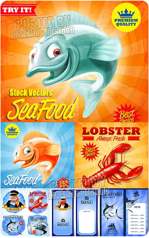 Seafood - Stock Vectors