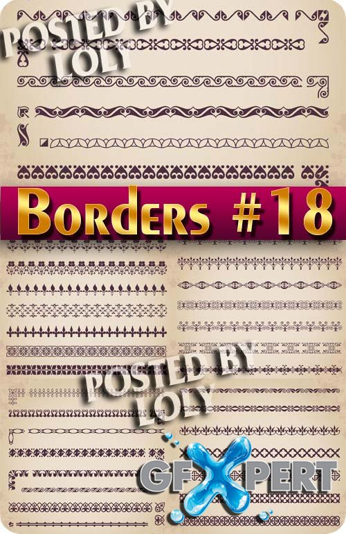 Vintage elements and borders #18 - Stock Vector