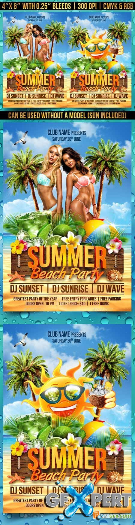Graphicriver Summer Beach Party Flyer 11321998