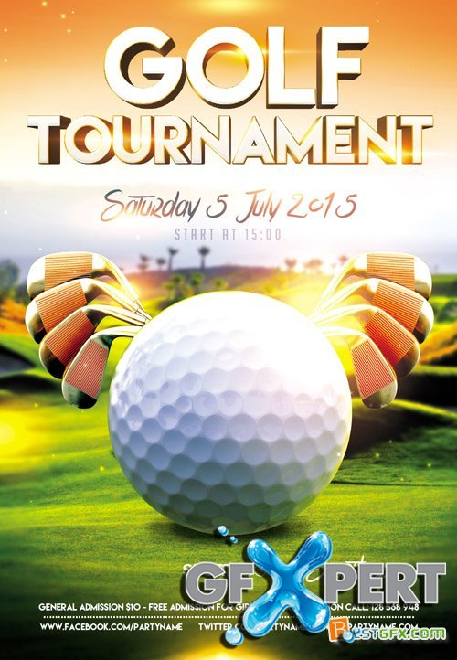 golf tournament flyer template download