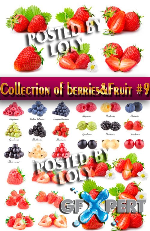 Food. Mega Collection. Berries and Fruits #9 - Stock Photo