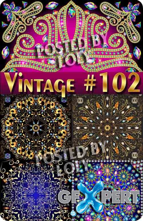 Vintage backgrounds #102 - Stock Vector