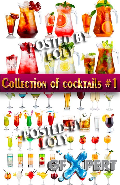 Drinks. Mega Collection. Cocktails #1 - Stock Photo