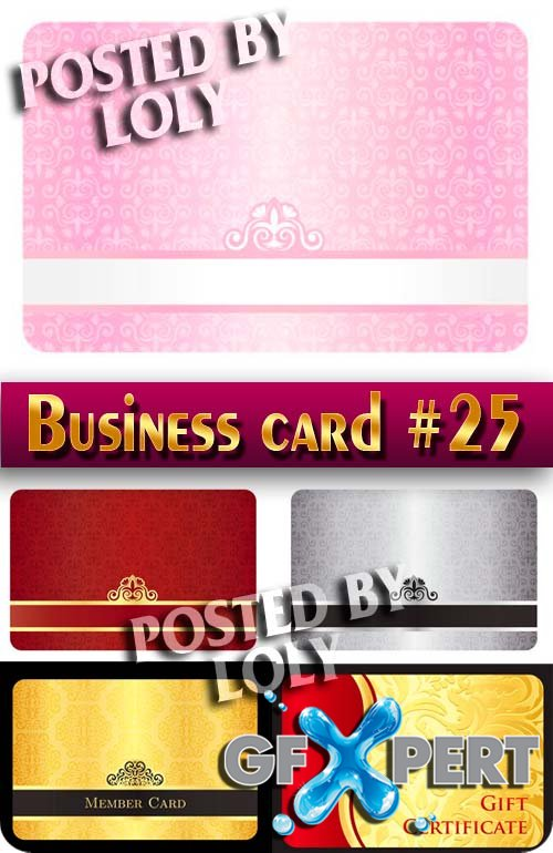 Business Cards #25 - Stock Vector