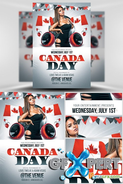 Flyer Template PSD - Canada Day