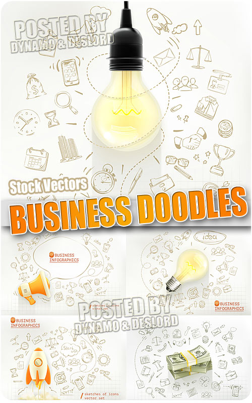 Business doodles - Stock Vectors