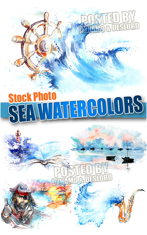 Sea watercolors - UHQ Stock Photo