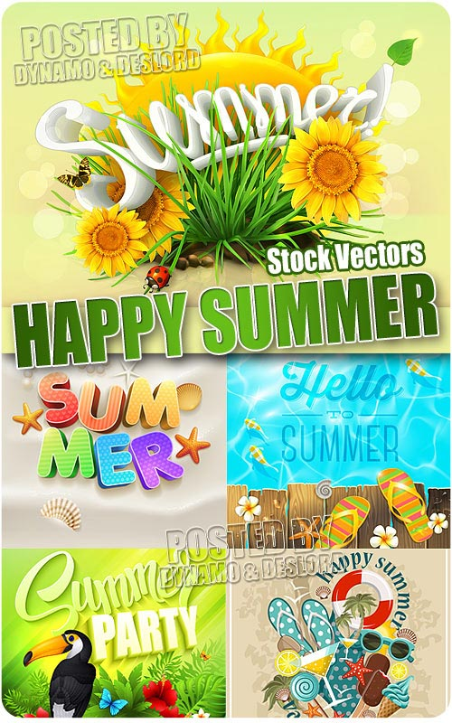 Happy summer - Stock Vectors