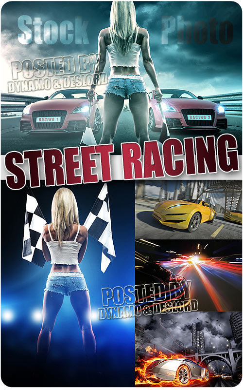 Street racing - UHQ Stock Photo