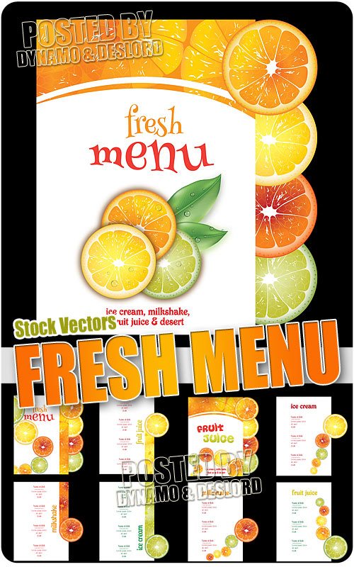 Fresh menu - Stock Vectors