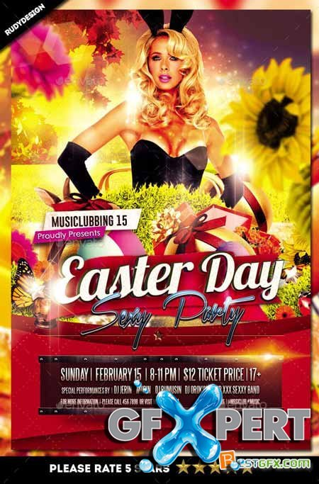 Graphicriver Easter Day Party Flyer 10851918