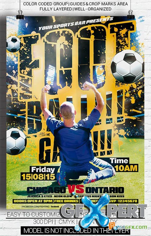 Premium Flyer Template - Football Game