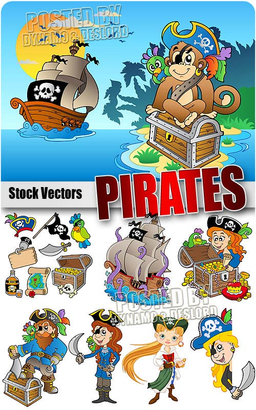 Pirates 2 - Stock Vectors