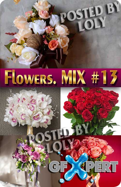 Flowers Mix #13 - Stock Photo