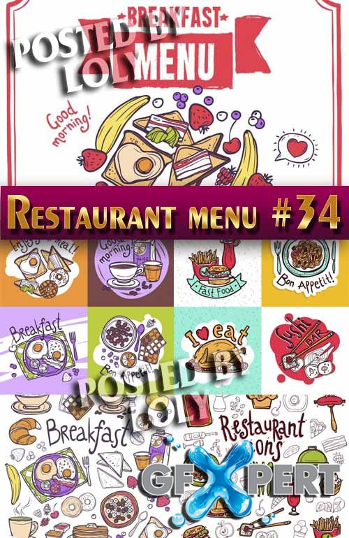 Restaurant menus #34 - Stock Vector