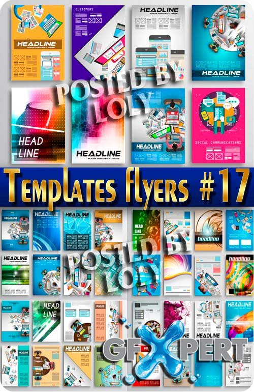 Flyer templates #17 - Stock Vector