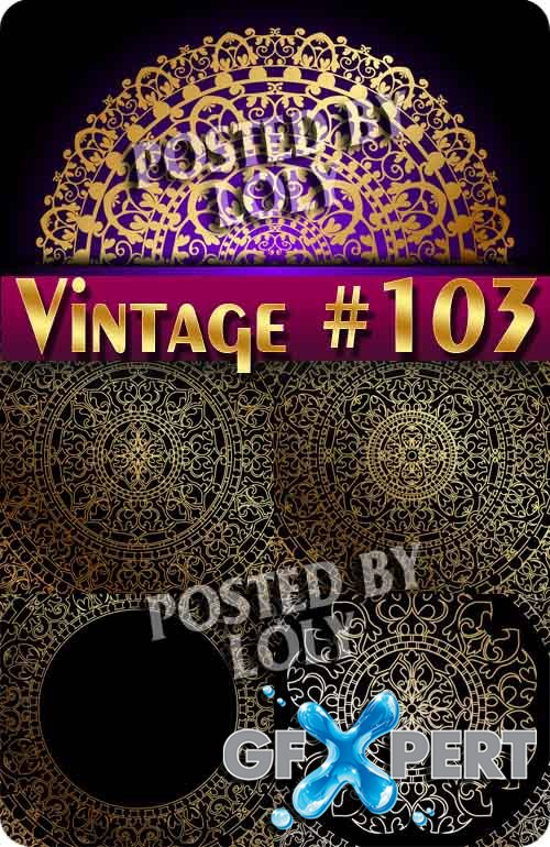 Vintage backgrounds #103 - Stock Vector