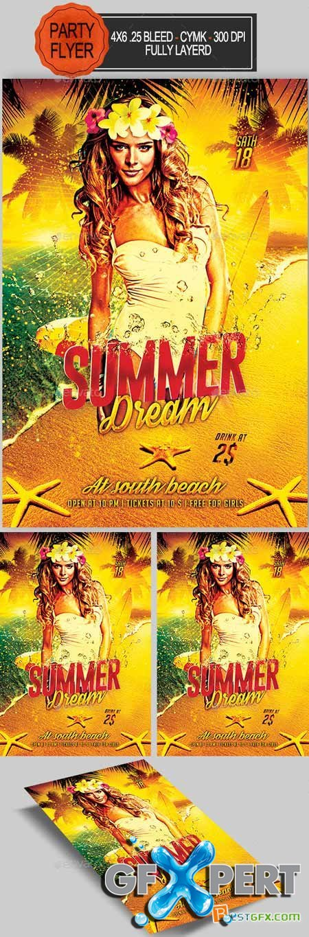Graphicriver Summer Dream Party Flyer 11683519